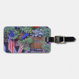 Flags and Flowers in Philipsburg Montana Luggage Tag