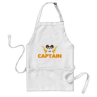 Flaming Skull Captain Standard Apron