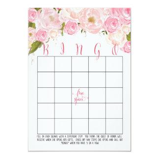 "Floral Bridal Shower Bingo Cards 5"" X 7"" Invitation Card"