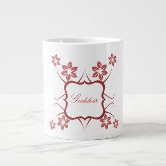 Floral Goddess Jumbo Mug, Red Jumbo Mug