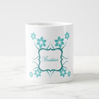 Floral Goddess Jumbo Mug, Teal Jumbo Mug