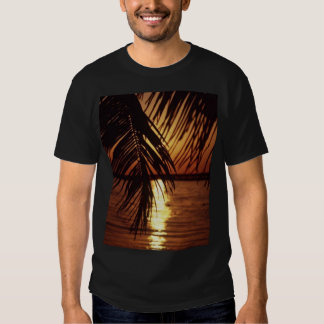 Floride-coucher du soleil par le T-shirt de paumes