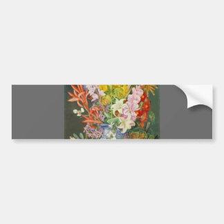 Flower Blossoms Peace Love Inspirational Faith Bumper Sticker