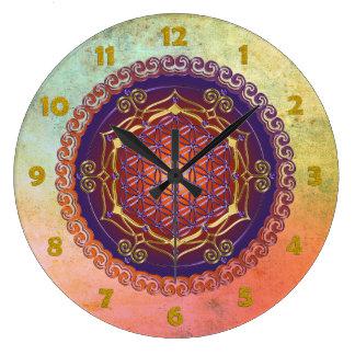 FLOWER OF LIFE / Blume des Lebens - Ornament I Wall Clock