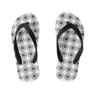Flower Pattern - Custom Flip Flops, Kids Kid's Flip Flops