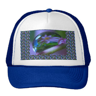 Flower REFLECTION on a DEW DROP .  lowprice GIFTS Trucker Hat