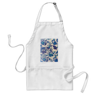 Flowers and leaves abstract design standard apron