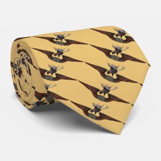 Flying Moose Bush Pilot Wings Tie