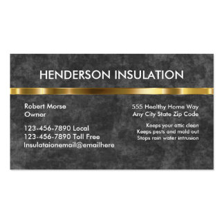 Foam Insulation Business Cards