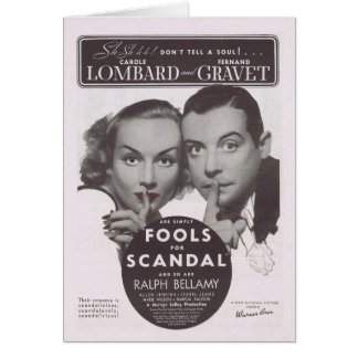 Fools For Scandal 1938 Movie Ad Greeting Card