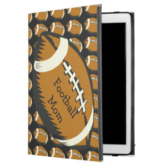 Football Mom Black and Brown Sports iPad Pro Case