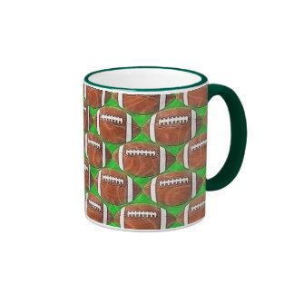 FOOTBALLS RINGER COFFEE MUG