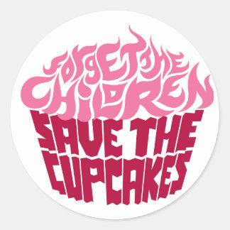 Forget the Children - Pink+Maroon Round Sticker