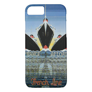 France Afloat - French Line Poster iPhone 7 Case