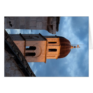 Franciscan Monastery Tower at Sunset Greeting Card