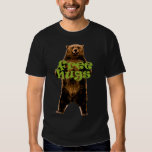 free hugs grizzly bear fun design t-shirts