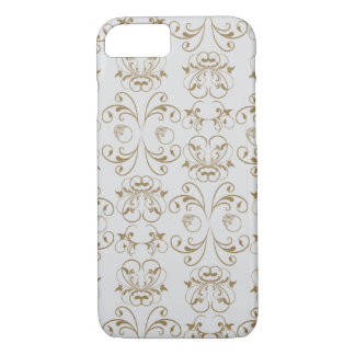 French Damask - Ornaments - White, Brown iPhone 7 Case