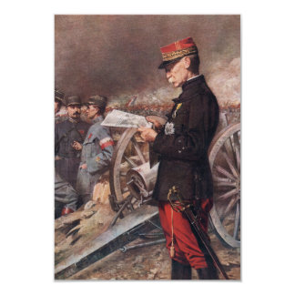 "French General Joseph Gallieni by Ferdinand Roybet 3.5"" X 5"" Invitation Card"