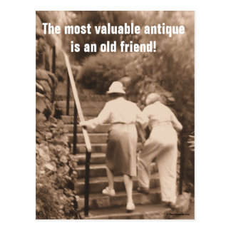 Friends till the end postcard