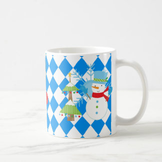 Frosty's Friends Happy Holidays! Classic White Coffee Mug