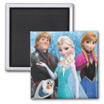 Frozen | Anna, Elsa, Kristoff and Olaf Square Magnet
