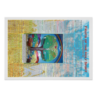 """Fruits of the Holy Spirit Poster 20""""x28"""""""