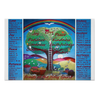 Fruits of the Spirit Poster with Verses