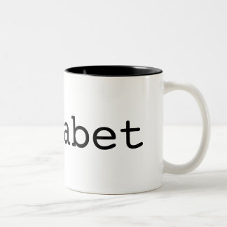 Fun educational alphabet design Two-Tone coffee mug