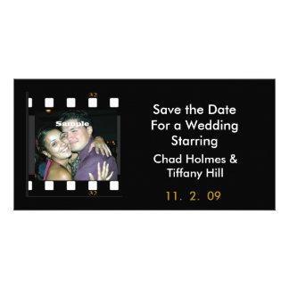 Fun Photo Film Save the Date Card Photo Card Template