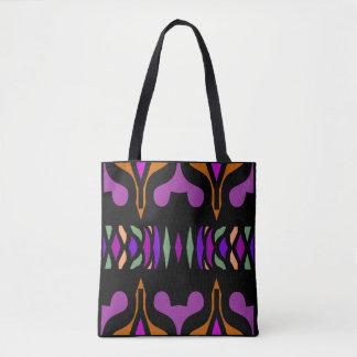 Fun Tote Bag-Print on Gold,Black,Purple,Green,Pink