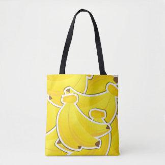 Funky banana tote bag
