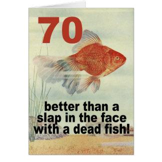 Funny 70th Birthday Greeting Card