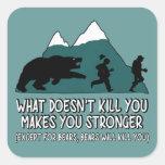 Funny bears square sticker