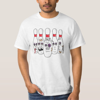 Funny Beat Up Bowling Pins SPARE US Tees