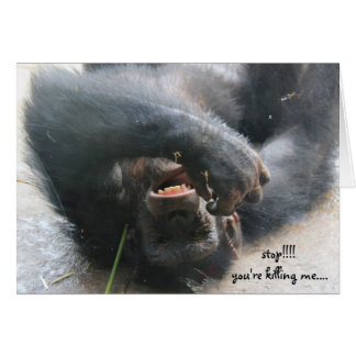 Funny Chimpanzee Birthday Card, Over the Hill Greeting Card