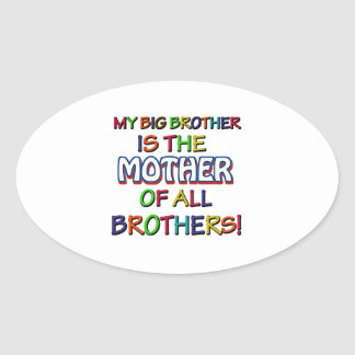 funny family designs oval sticker