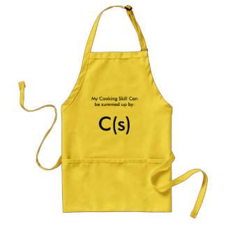Funny Geek Chemistry cooking apron