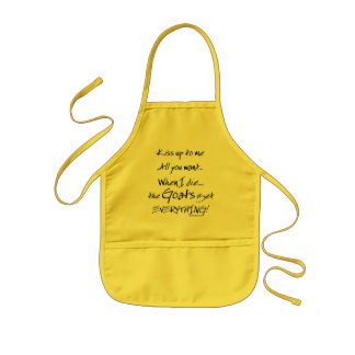 Funny Goat Saying Goats Get Everything Kids Apron