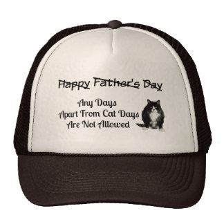 Funny Grumpy Cat Fathers Day Trucker Hat