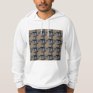 Funny Halloween Cat and Web Pattern Hoody