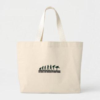 Funny Human Evolution Graphic Design Jumbo Tote Bag