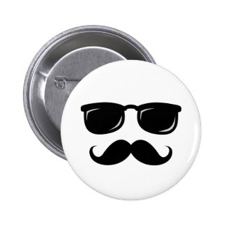 Funny incognito smiley mustache trendy hipster 2 inch round button