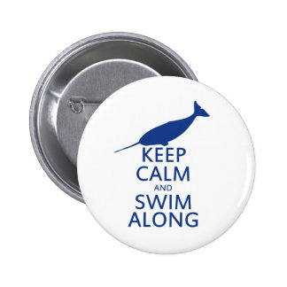 Funny Narwhal Humor 2 Inch Round Button