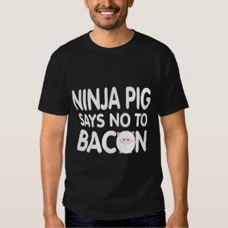 Funny Ninja Pig Says No to Bacon T-shirt