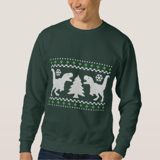 Funny Ugly T-Rex Holiday Sweater Pull Over Sweatshirt