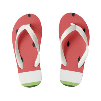 Funny Watermelon Kid's Flip Flops