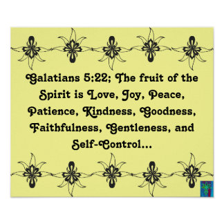 Galatians 5:22 Fruit of the Spirit Poster