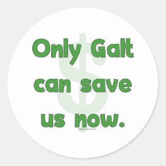 Galt Save Us Round Sticker
