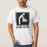 Game Over New Baby for Parent Dad Tshirt