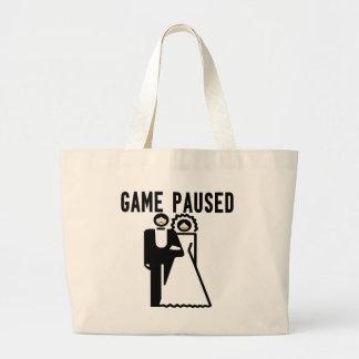 Game Paused Jumbo Tote Bag